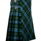 34 inches waist Bias Apron Traditional 5 Yard Scottish Kilt for Men - Campbell Ancient Tartan