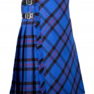 56 inches waist Bias Apron Traditional 5 Yard Scottish Kilt for Men - Elliot Modern Tartan