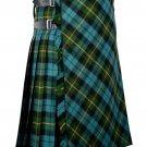 42 inches waist Bias Apron Traditional 5 Yard Scottish Kilt for Men - Gunn Ancient Tartan