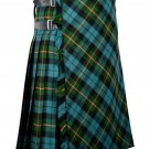 58 inches waist Bias Apron Traditional 5 Yard Scottish Kilt for Men - Gunn Ancient Tartan