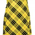 44 inches waist Bias Apron Traditional 5 Yard Scottish Kilt for Men - Macleod of Lewis Tartan