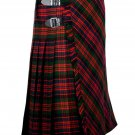 34 inches waist Bias Apron Traditional 5 Yard Scottish Kilt for Men - Macdonald Tartan