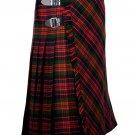 56 inches waist Bias Apron Traditional 5 Yard Scottish Kilt for Men - Macdonald Tartan