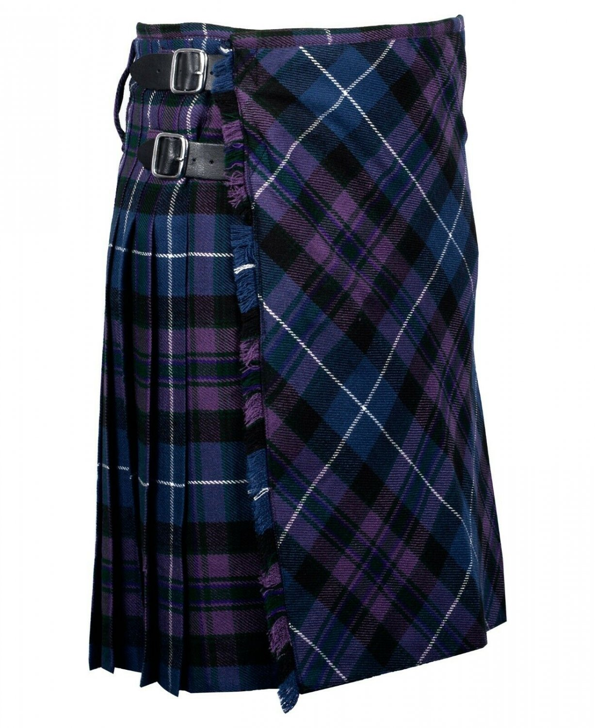 38 inches waist Bias Apron Traditional 5 Yard Scottish Kilt for Men - Pride of Scotland Tartan