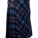 56 inches waist Bias Apron Traditional 5 Yard Scottish Kilt for Men - Pride of Scotland Tartan