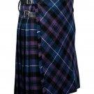 60 inches waist Bias Apron Traditional 5 Yard Scottish Kilt for Men - Pride of Scotland Tartan