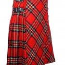 54 inches waist Bias Apron Traditional 5 Yard Scottish Kilt for Men - Royal Stewart  Tartan