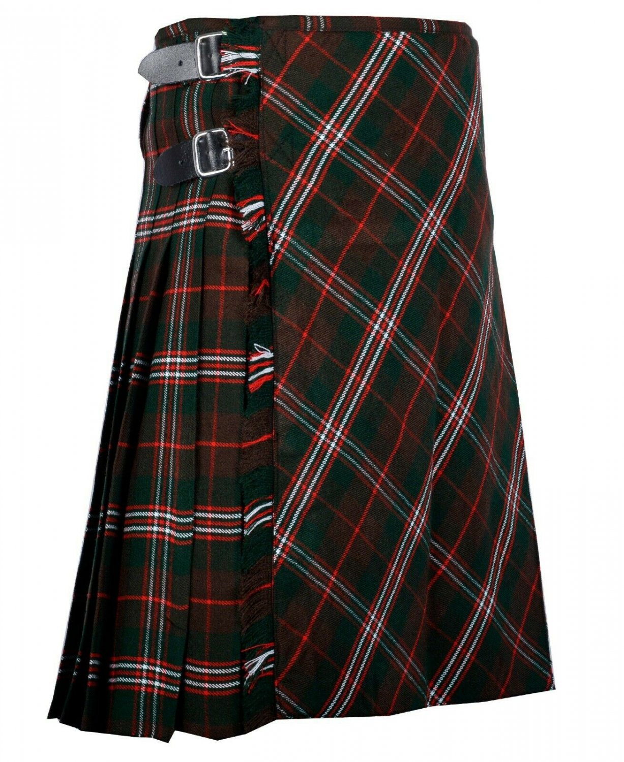 56 inches waist Bias Apron Traditional 5 Yard Scottish Kilt for Men - Scott Hunting Tartan