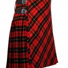 52 inches waist Bias Apron Traditional 5 Yard Scottish Kilt for Men - Wallace Tartan