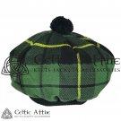 New Handmade Scottish Tam o' shanter Flat Bonnet Hat / Tammie Cap In Clan Tartan Wallace Hunting