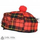 New Handmade Scottish Tam o' shanter Flat Bonnet Hat / Tammie Cap In Clan Tartan Wallace