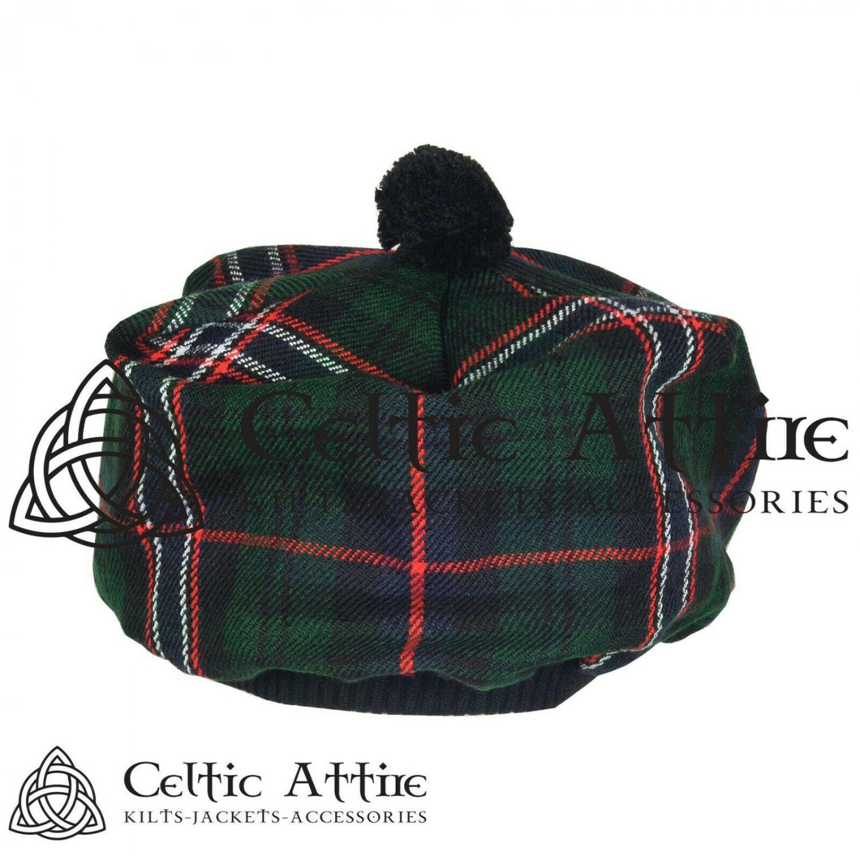 New Handmade Scottish Tam o' shanter Flat Bonnet Hat / Tammie Cap In Clan Tartan Scottish National