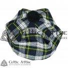 New Handmade Scottish Tam o' shanter Flat Bonnet Hat / Tammie Cap In Clan Tartan Dress Gordon