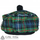 New Handmade Scottish Tam o' shanter Flat Bonnet Hat / Tammie Cap In Clan Tartan Robertson Hunting