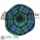 New Handmade Scottish Tam o' shanter Flat Bonnet Hat / Tammie Cap In Clan Tartan Campbell Ancient