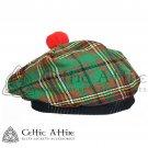 New Handmade Scottish Tam o' shanter Flat Bonnet Hat / Tammie Cap In Clan Tartan Tara Murphy