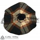 New Handmade Scottish Tam o' shanter Flat Bonnet Hat / Tammie Cap In Clan Tartan Rose Ancient
