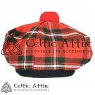 New Handmade Scottish Tam o' shanter Flat Bonnet Hat / Tammie Cap In Clan Tartan Macgreggor