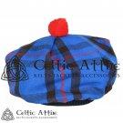 New Handmade Scottish Tam o' shanter Flat Bonnet Hat / Tammie Cap In Clan Tartan Elliot