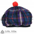 New Handmade Scottish Tam o' shanter Flat Bonnet Hat / Tammie Cap In Clan Tartan Masonic