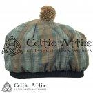 New Handmade Scottish Tam o' shanter Flat Bonnet Hat / Tammie Cap  Tartan Black  Watch Weathered