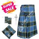 Scottish 8 Yard Tartan Kilt and Accessories Package Size 32 Anderson Tartan