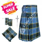Scottish 8 Yard Tartan Kilt and Accessories Package Size 48 Anderson Tartan