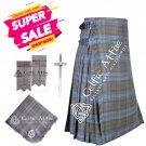Scottish 8 Yard Kilt & Accessories Package - Custom Made - 39 Colors - 13 Oz Acrylic Fabric