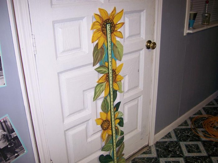 Grow With Me Measuring Sticks HP One of a Kind Sunflowers