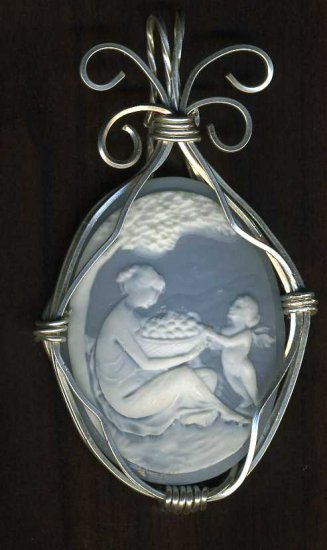 Cameo Sterling Silver Sclupted