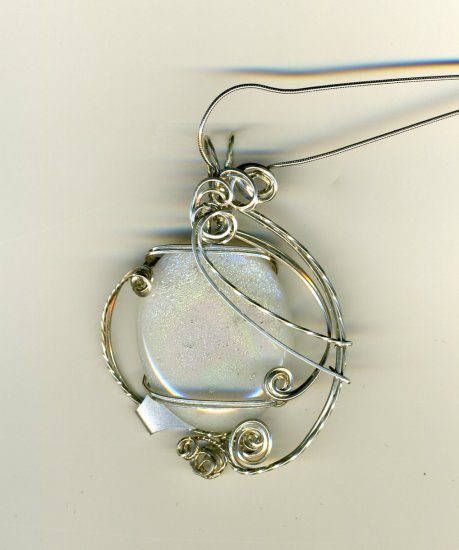 Fused Dichroic & Art Glass Pendants