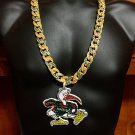 Miami Hurricanes Turnover Chain Iced Out Deluxe Pro Edition