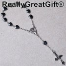 TWO (2) Car Rosary Lot – Heart Shaped Hematite – 8 mm – NEW