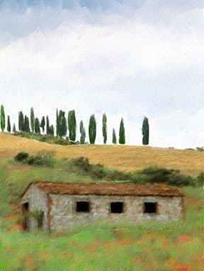 Tuscany Watercolor Greeting Card