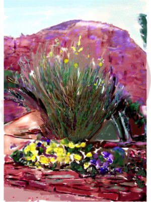 Sedona Wayside Chapel Greeting Card - 8 5 inch by 7 inch watercolor cards come with 8 envelopes