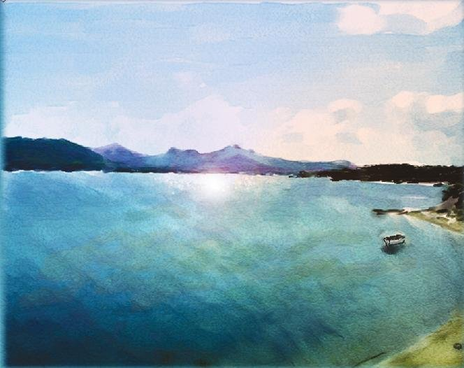 Mediterranean Coast in Sardinia - Watercolor Greeting Cards - box of 8 5inch by 7inch cards
