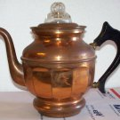Buffalo Mfg. Buffalo, N.Y. Copper Coffee Pot with all it's guts intact 4-5 cup