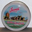 James Mellow Mint Rolls green round tin Atlantic City, N.J. James Candy Company