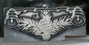 Metal Ornamental with bells metal printing block American 96 used