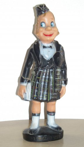 Smuggler Scotch Plastic type or resign type of Scottish Guy in a kilt used empty