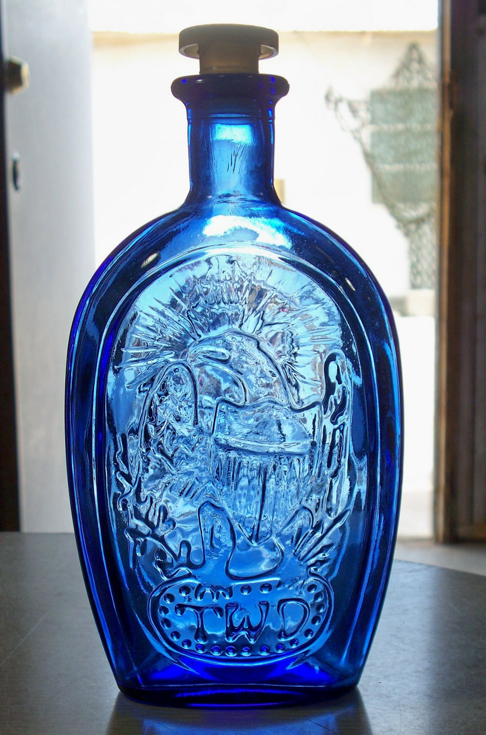 Blue Franklin Twd Unknown Maker Bottle Eagle And A Ship