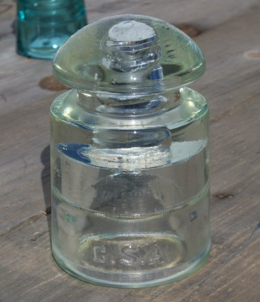 Clear Hemingray 7-41 C.S.A. insulator used