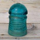 Brookfield New York blueish greenish colored insulator nice swirls used