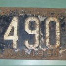 New Jersey 1951 License Plate COMM XP 4905 used vintage rustic looking
