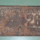 Boat Permit U.S. Dept. of the Interior Boat Permit 1956 Bureau of Reclamation