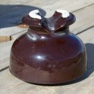 P.P. or PP Inc 1950 ceramic insulator used brown color