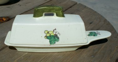 Poppytrail by Metlox Provincial Fruit Butter Dish Made in California