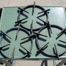 Round Cast Iron Gas Stove Grates set of 3 used marked steampunk diesel punk