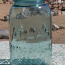 Atlas Strong Shoulder Mason Aquamarine? quart size canning or fruit jar
