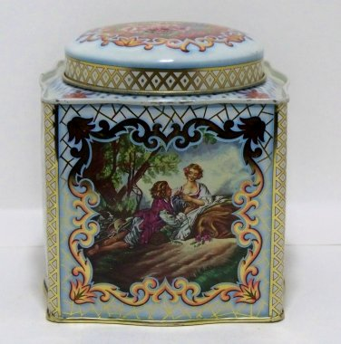 Daher metal tin container Made in England - Long Island, N.Y.  (T102)